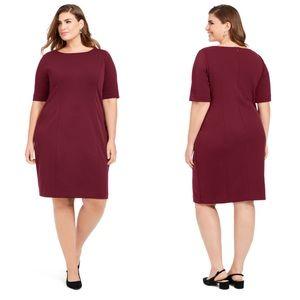 Alfani Wine Colored Sheath Dress Plus Size 28W